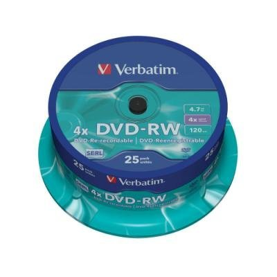 DVD médium Verbatim DVD-RW 4,7GB 25ks