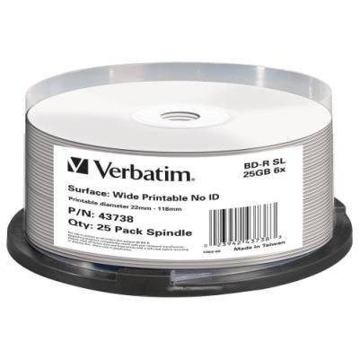 Blu-Ray médium Verbatim BD-R Blu-Ray SL 25GB 25ks