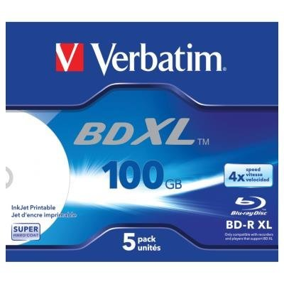 Blu-Ray médium Verbatim BD-R XL 100 GB 5 ks