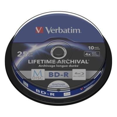Blu-Ray médium Verbatim M-DISC BD-R 25GB 10ks