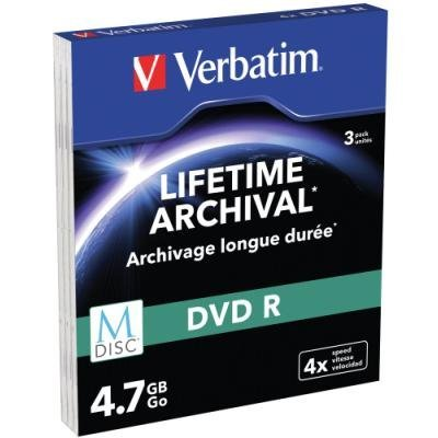 DVD médium Verbatim M-DISC DVD-R 4,7 GB 3 ks