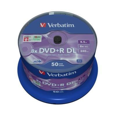 DVD médium Verbatim DVD+R 8,5GB 50ks