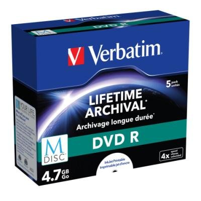 DVD médium Verbatim M-DISC DVD-R 4,7 GB 5 ks