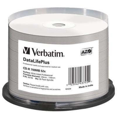 CD médium Verbatim CD-R80 700MB 50ks