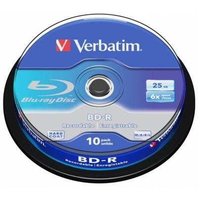 Blu-Ray médium Verbatim BD-R 25GB 10ks