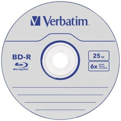 Blu-Ray médium Verbatim BD-R DataLife 25GB 1ks