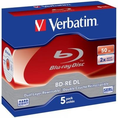 Blu-Ray médium Verbatim BD-RE DL 50GB 5ks