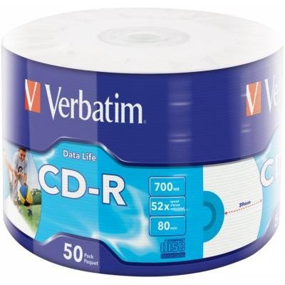 CD médium Verbatim CD-R 700MB 50ks