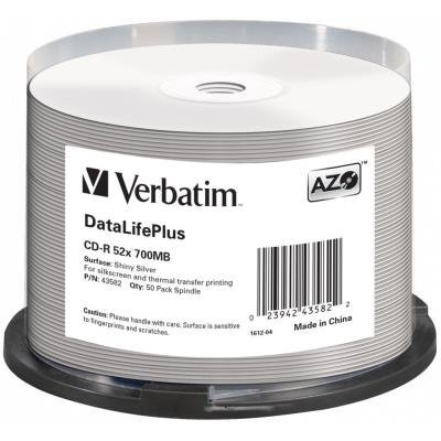 CD médium Verbatim CD-R DataLifePlus 700MB 50ks