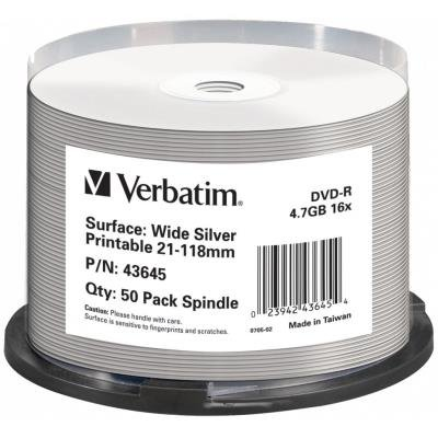 DVD médium Verbatim DVD-R DataLifePlus 4,7GB 50ks