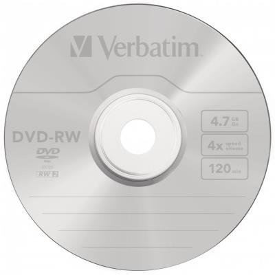 DVD médium Verbatim DVD-RW SERL 4,7GB 1ks