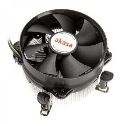 AKASA chladič CPU / AK-CCE-7101CP / Intel 775,1156 / ultra tichý / výška 63mm