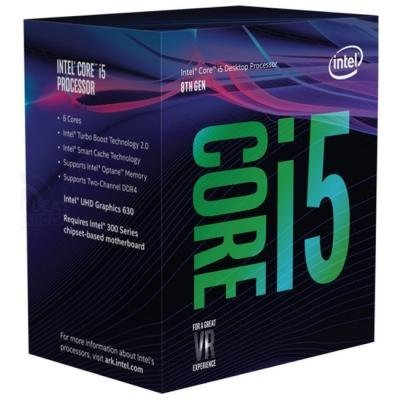INTEL Core i5-8400 / Coffee Lake / LGA1151 / max. 4,0 GHz / 6C/6T / 9MB / 65W TDP / BOX