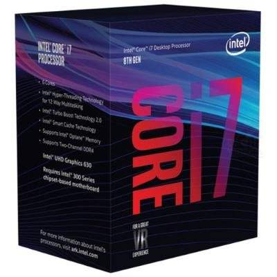 INTEL Core i7-8700 / Coffee Lake / LGA1151 / max. 4,6 GHz / 6C/12T / 12MB / 65W TDP / BOX