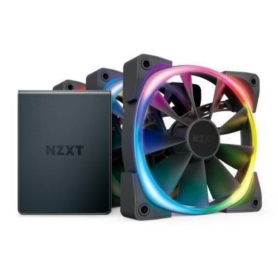 Ventilátor NZXT Aer RGB 2 3ks + HUE 2