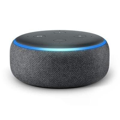 AMAZON hlasový asistent Echo Dot Charcoal/ Amazon Alexa/ Wi-Fi/ Bluetooth/ 3.5 mm jack/ 3. generace/ černý