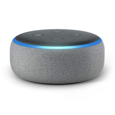 AMAZON hlasový asistent Echo Dot Heather Grey/ Amazon Alexa/ Wi-Fi/ Bluetooth/ 3.5 mm jack/ 3. generace/ šedý