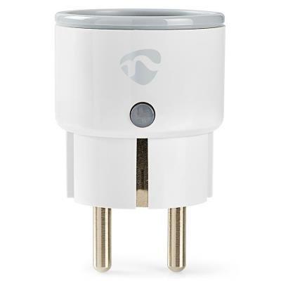 NEDIS chytrá zásuvka/ Wi-Fi/ monitor napájení/ 10A/ francouzský typ E/ Android/ iOS/ Nedis® SmartLife/ bílá