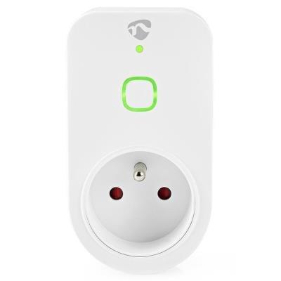 NEDIS chytrá zásuvka/ Wi-Fi/ monitor napájení/ 16A/ francouzský typ E/ Android/ iOS/ Nedis® SmartLife/  bílá