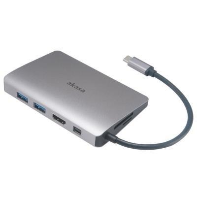 Dokovací stanice Akasa 9v1 USB 3.1 Typ C