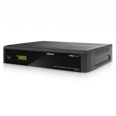 AMIKO DVB-S2/T2/C přijímač VIPER COMBO/ Full HD/ čtečka karet/ H.265/HEVC/ EPG/ HDMI/ 2x USB/ LAN/ DC 12V
