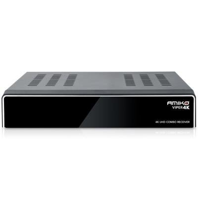 AMIKO DVB-S2/T2/C přijímač VIPER 4K COMBO/ 4K Ultra HD/ CI slot/ H.265/HEVC/ EPG/ Timeshift/ HDMI/ 2x USB/ LAN/ Wi-Fi