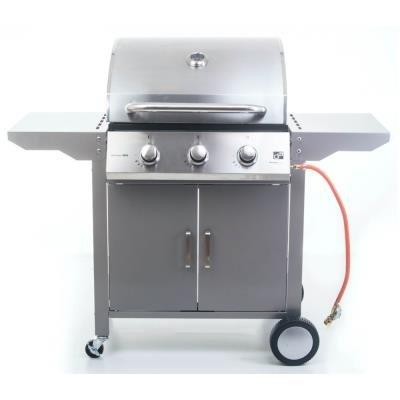 Gril G21 Oklahoma BBQ Premium Line stříbrný