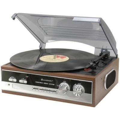 Gramofon Soundmaster PL186H s rádiem