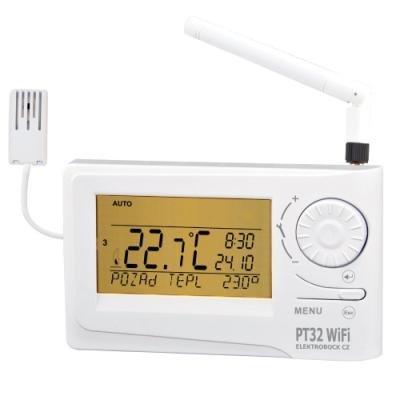 ELEKTROBOCK Prostorový termostat PT32 WIFI   dálkové nastavení teplot