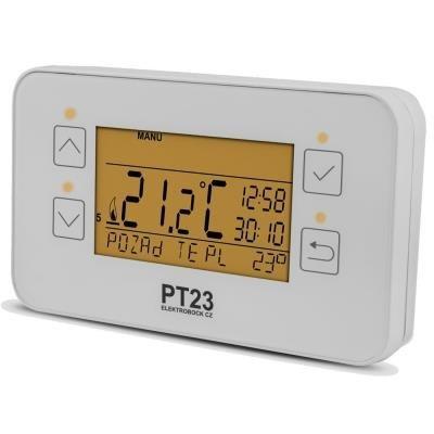 OPRAVENÉ - ELEKTROBOCK Prostorový termostat PT23 programovatelný, dotykové ovládání,
