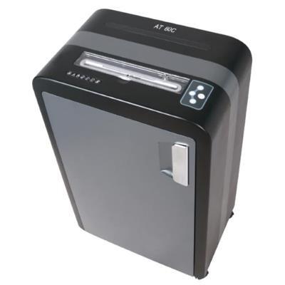 AT skartovač AT-60C/ řez 3,8x40 mm/ prac. šíře 230 mm/ kapacita 25 listů/ objem koše 35 l/ stupeň utajení P4/ šedo-černý