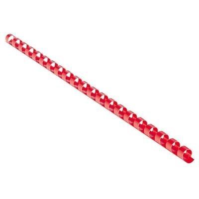 Eurosupplies plastový hřbet 25mm červený