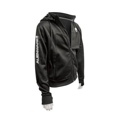 DELL Alienware Poly-Tech Hoodie black - L/ mikina s kapucí