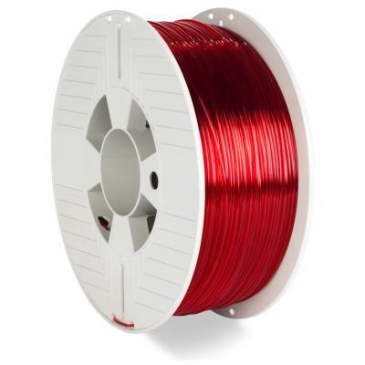 Verbatim PETG 1,75mm červeno-průhledné