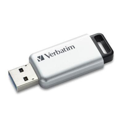 VERBATIM Flash disk Store 'n' Go Secure Pro/ 32GB/ USB 3.0/ AES 256-bit hardwarové šifrování/ stříbrná