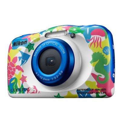 Digitální fotoaparát Nikon Coolpix W100 bílý vzor