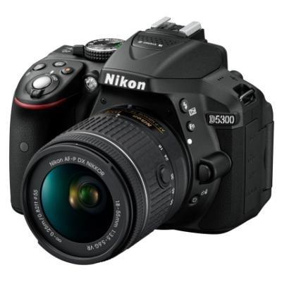 Zrcadlovka Nikon D5300 + AF-P 18-55 VR BLACK
