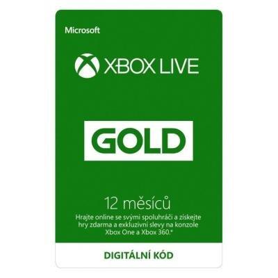 Členská karta Microsoft Xbox Live Gold 12 měsíců