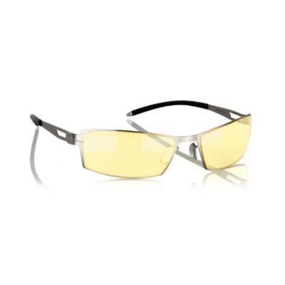 GUNNAR kancelářské brýle SHEADOG MERCURY/ stříbrné obroučky/ jantarová skla