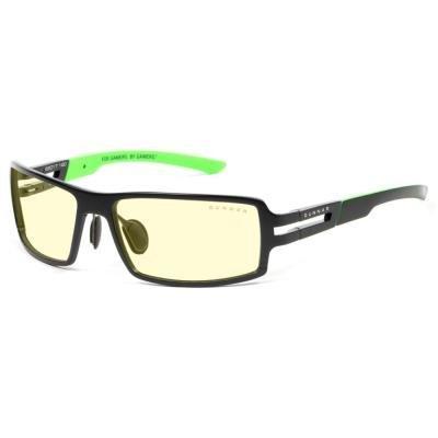 GUNNAR herní brýle RPG RAZER ONYX/  černozelené obroučky/ jantarová skla