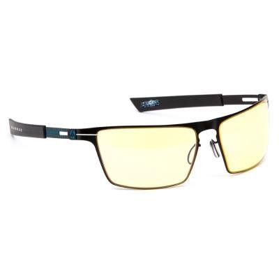 GUNNAR herní brýle SIEGE ONYX  ICE/ černomodré obroučky/ jantarová skla