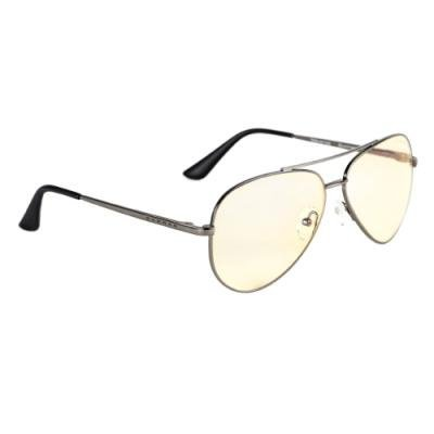 GUNNAR herní brýle MAVERICK GUNMETAL / tmavě šedé obroučky/ jantarová skla