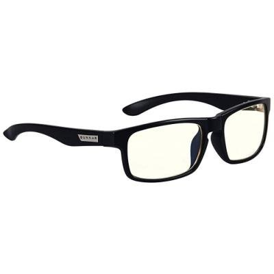 GUNNAR herní brýle ENIGMA ONYX / černé obroučky/ světlá skla