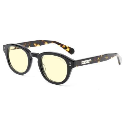 GUNNAR kancelářské brýle EMERY ONYX JASPER/ černé obroučky/ jantarová skla