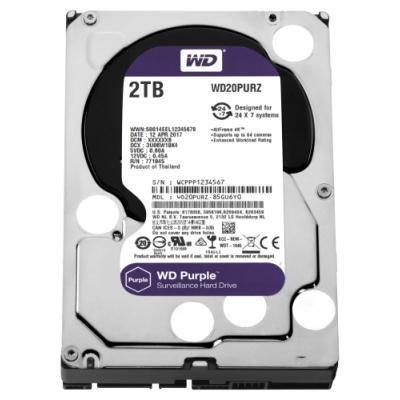 WD HDD PURPLE 2TB / WD20PURZ / SATA 6Gb/s / Interní 3,5