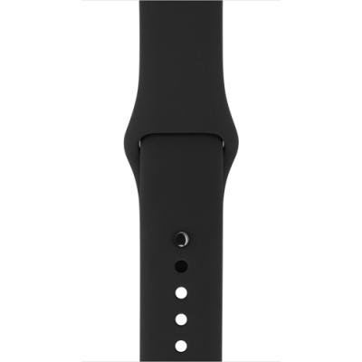 Řemínek Apple Black Sport Band 42 mm černošedý