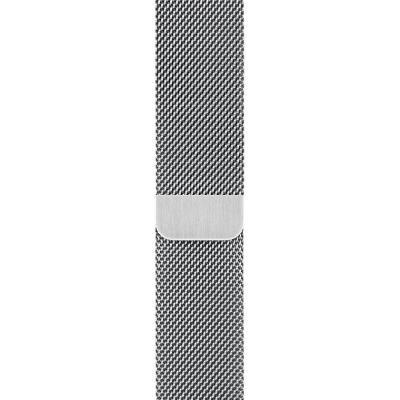 Řemínek Apple Milanese Loop 44mm stříbrný