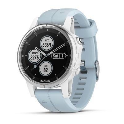 Chytré hodinky Garmin fenix5S Plus bílo - modré
