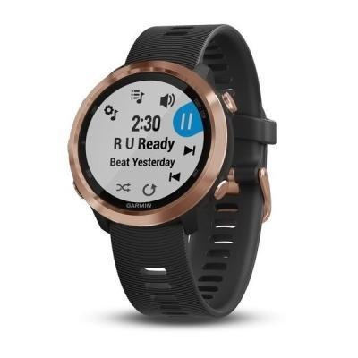 GARMIN GPS sportovní hodinky Forerunner 645 Music Optic, Rose Gold, Black band