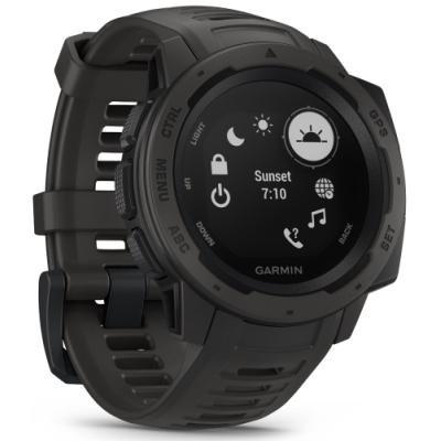 Chytré hodinky Garmin Instinct černé